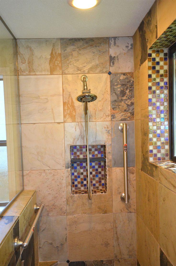 83 best tile shower ideas images on Pinterest | Bathroom, Pebble ...