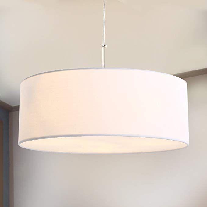 Pendant Light Spakrsor Ceiling Hanging Lamp Modern Fabric Light Shade Large White Drum Lampshade Round For Drum Lampshade Hanging Lamp Hanging Lamp Shade