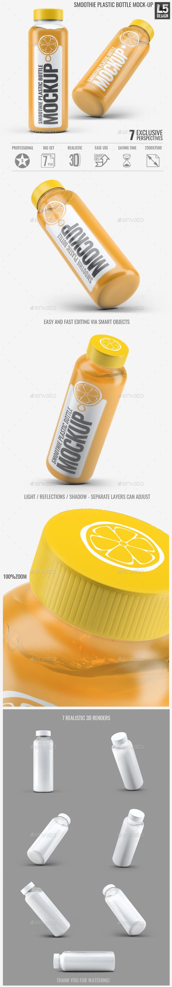 Smoothie Plastic Bottle Mock-Up. Download here: http://graphicriver.net/item/smoothie-plastic-bottle-mockup/15513879?ref=ksioks
