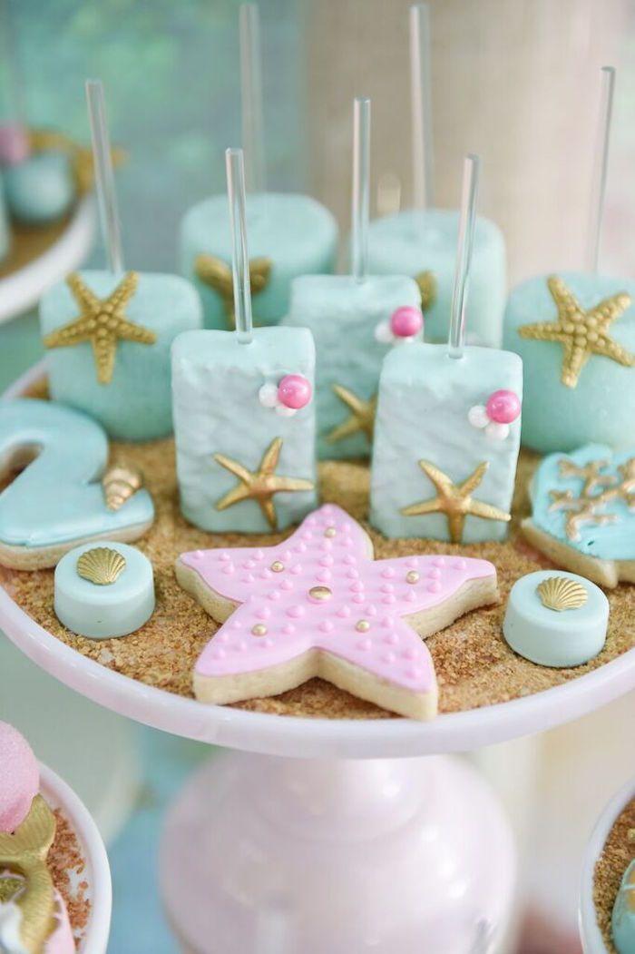 Sweets from a Mermaid Oasis Themed Birthday Party via Kara's Party Ideas   KarasPartyIdeas.com (24)