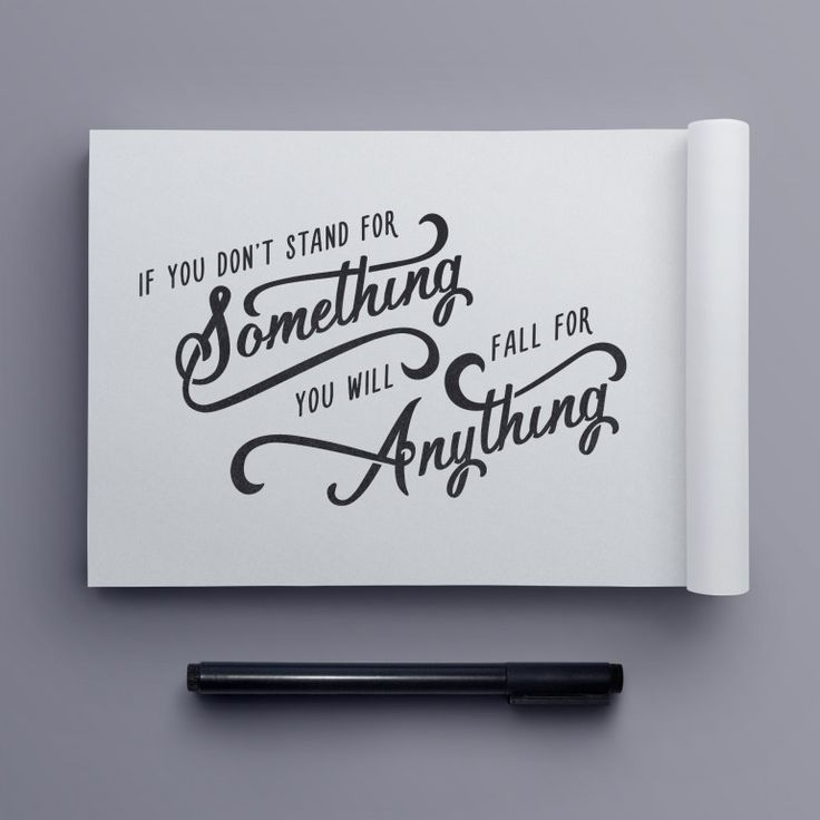 """Stand for Something"" hand drawn typography quote by Jenna Bresnahan"