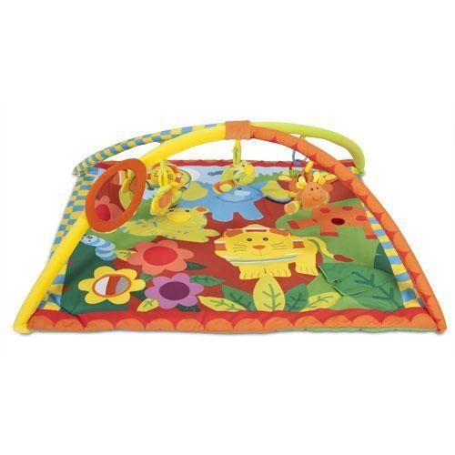 Alfombra de Animales de Jungla — Enpañales.com.ar En la alfombra el bebé puede jugar levantando los animales y viendo lo que hay detrás de ellos. Con sonajeros en el arco, espejos, y diferentes juguetes para que tu bebé se divierta jugando y aprendiendo.