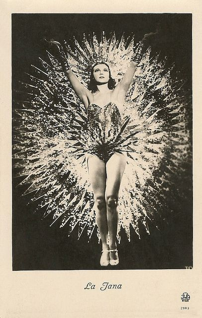 German dancer and film actress La Jana (1905 - 1940) was the most popular show girl of Berlin in the 1930's. She appeared in 25 European films, often dancing in exotic costumes. In 1940, she suddenly died of pneumonia and pleurisy.