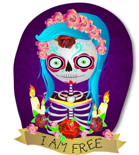 #catrina #illustration #colors #kouleur #free