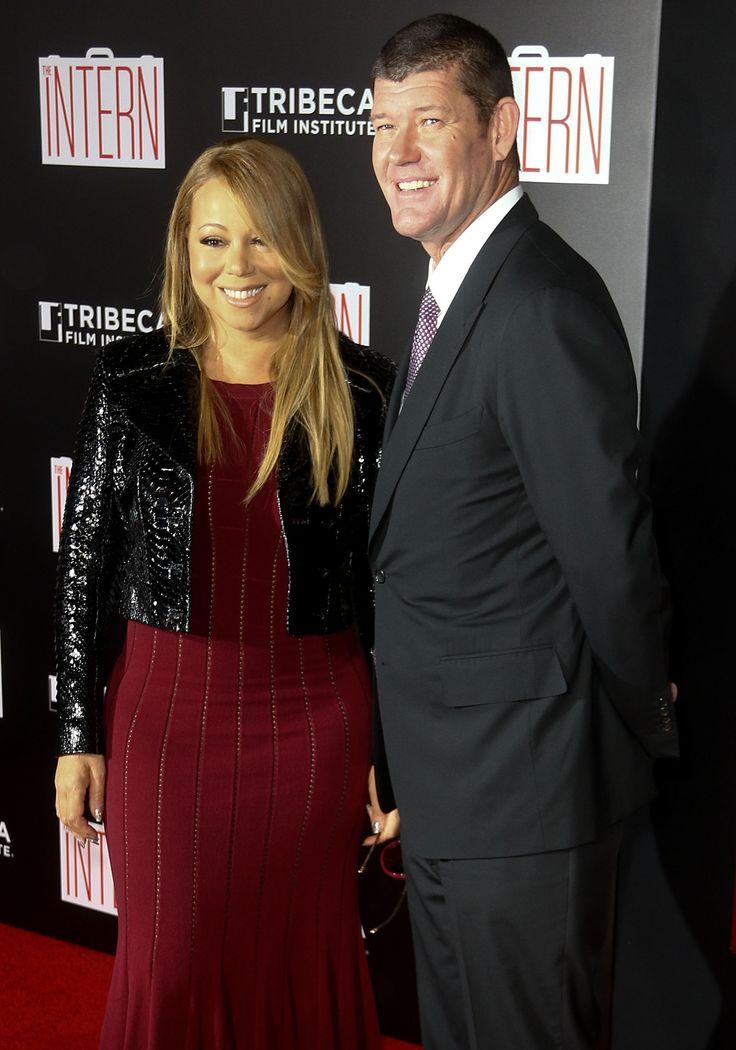 Mariah Carey and Boyfriend James Packer Make Red Carpet Debut at 'The Intern' Premiere