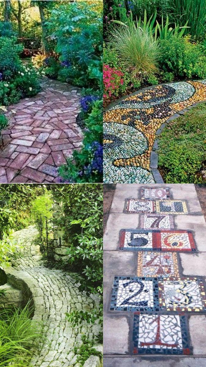 A Whole Bunch Of Beautiful & Enchanting Garden Paths - Style Estate - #garden #path, Beautiful Backyard.