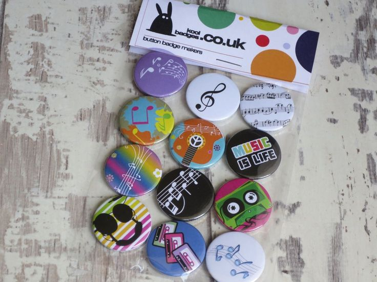 A great set of music badges heading out to a music tutor. This are still availab… – Button badges