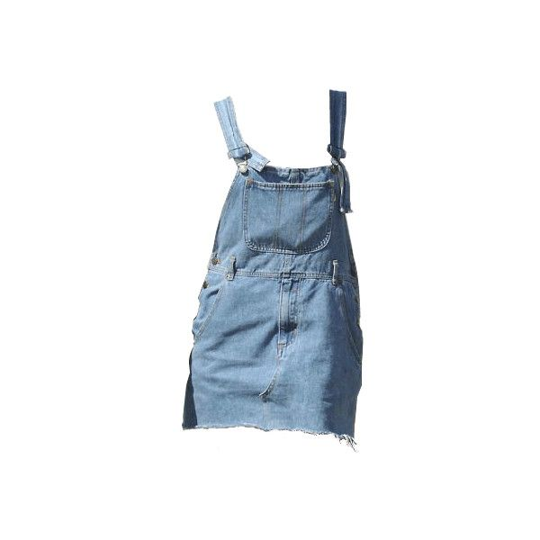 denim pinafore dress ❤ liked on Polyvore featuring dresses, overalls, skirts, tops, denim dress, pinny dress, blue denim dress, blue dress and pinafore dresses