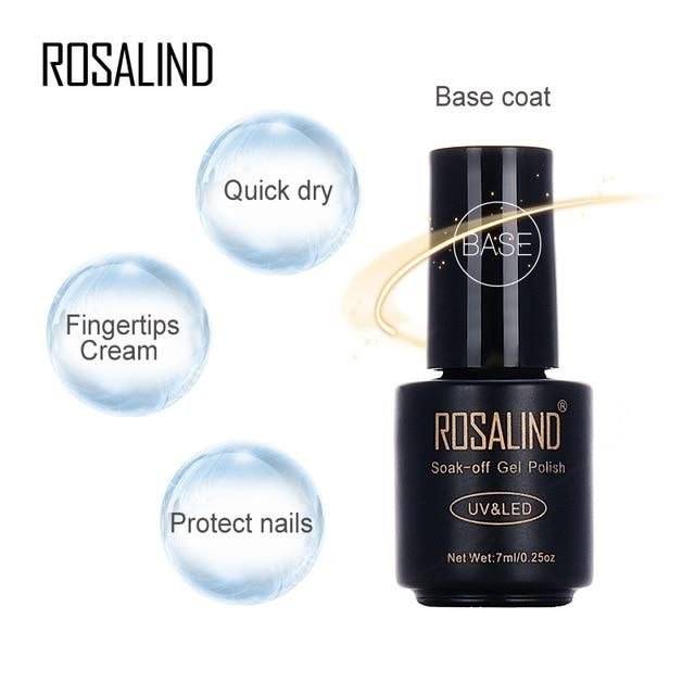 Rosalind 7ml Gel Nail Polish Matte Top Multi-Use Top & Base Coat Soak-Off UV Nai…