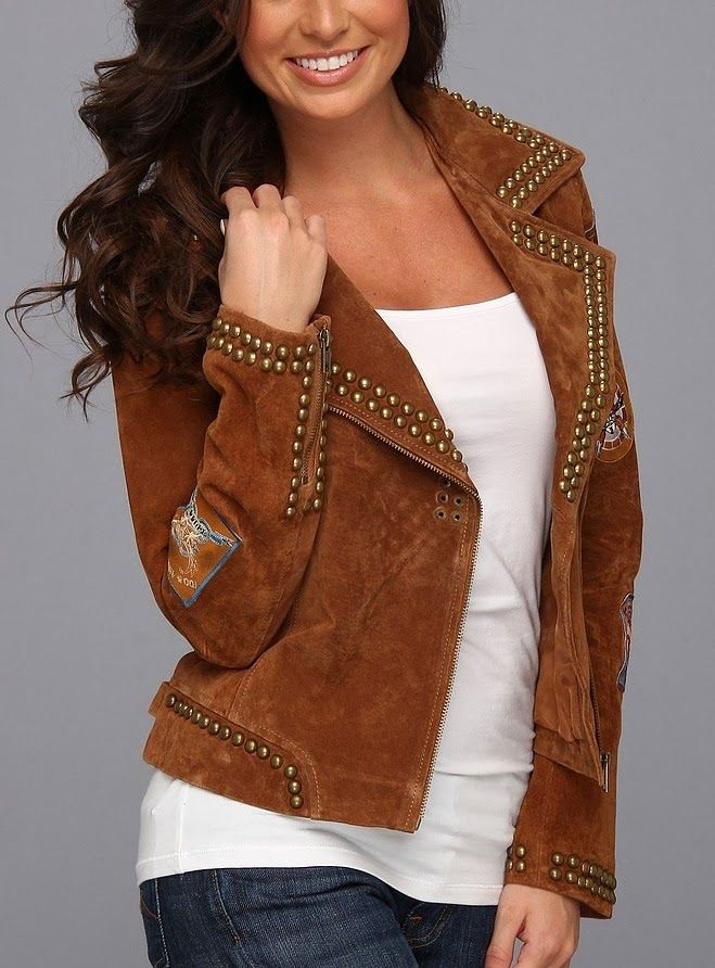 Studded Suede Jacket | Fashion Frenzy