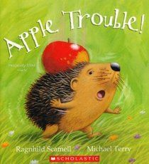 Carrie's Speech Corner: Book of the Week: Apple Trouble. Addresses vocabulary (animals, adjectives, synonyms, categories), sequencing (order of items that fall on hedgehog), retelling a story in sequence, answering comprehension questions about a story, exclusion (goat eats all items except the leaf), increasing MLU, and articulation /l/