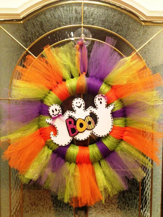 Halloween+Tulle+Wreath+by+PinkTulipOfDaphne+on+Etsy,+$30.00