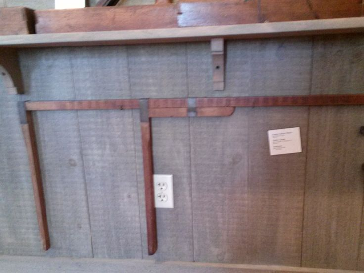 Photo taken in 2014:This long item mounted to the wall is a Timber Gauge. At Atwood House Museum, Chatham, MA. #atwoodhouse, #chathamhistoricalsociety, #chatham, #capecod, #tool, #antique