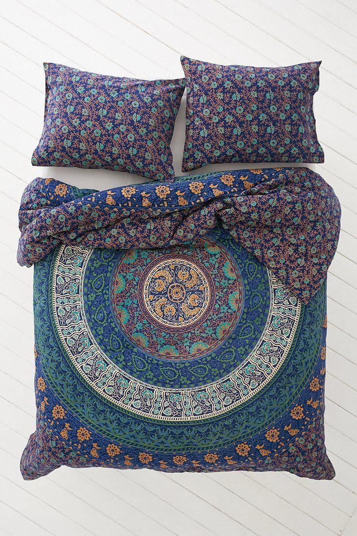 magical thinking blue medallion comforter
