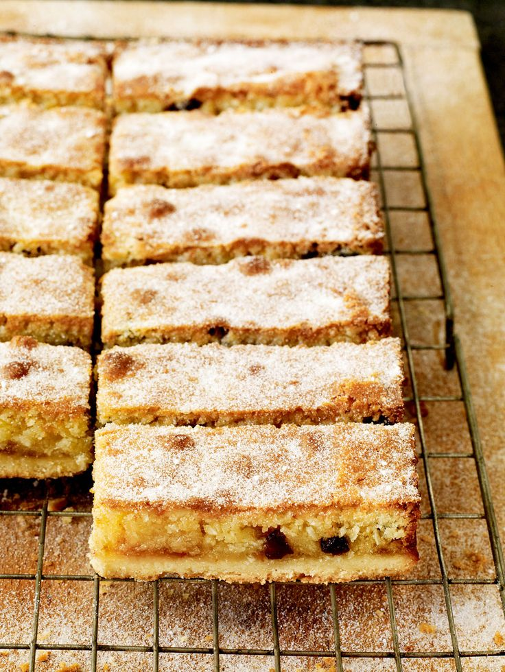 This tray bake recipe, made with ground almonds, coconut, raisins and orange marmalade can be served as dessert or with afternoon tea.