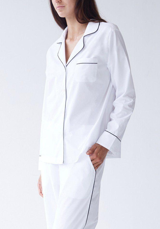 Frank Pyjama Set - White