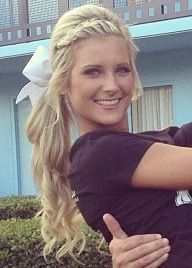 Cheerleader Hairstyles Extraordinary 10 Best Cheer Hairstyles Images On Pinterest  Cheer Hair Cheer