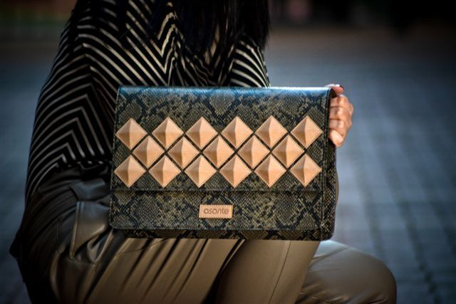 """Architectural clutch from """"asante"""" Lebanese designer"""