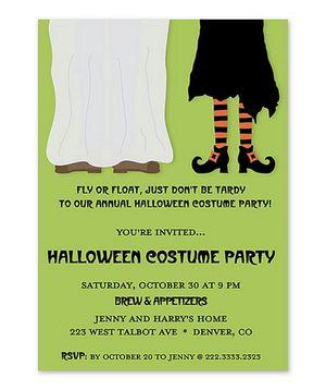 12 halloween party invitations