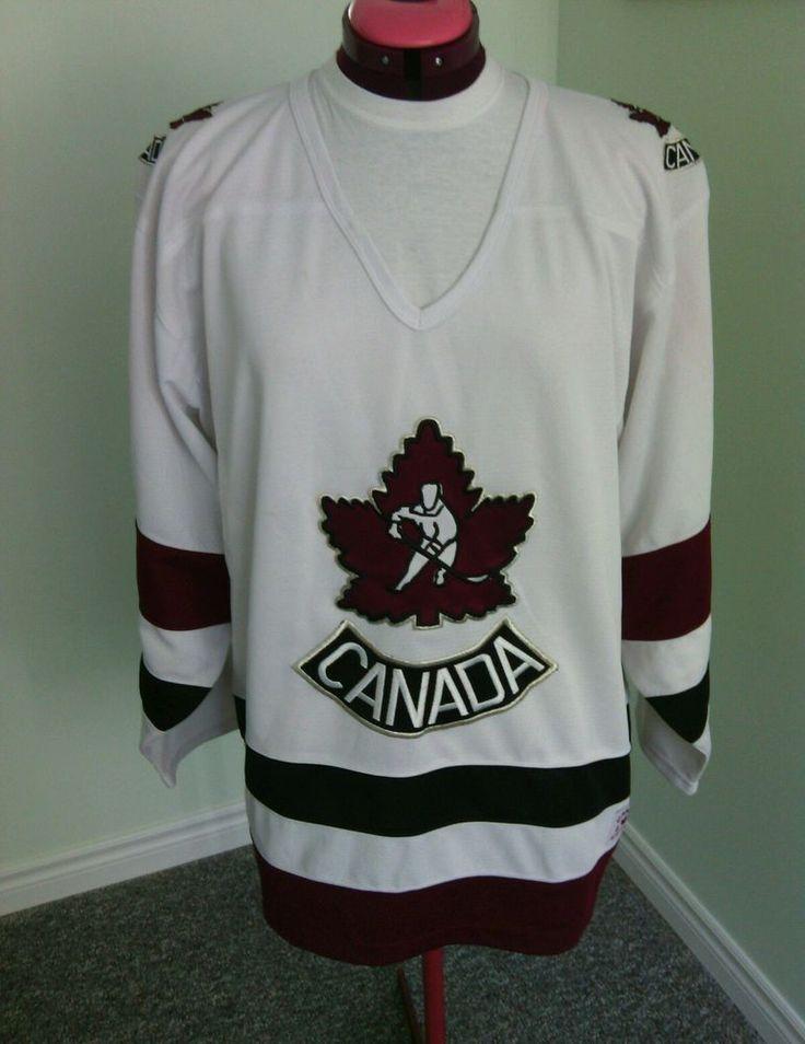 Men's White Canada Hockey Jersey Shirt Size XL Team Canada Athletics Long Sleeve | eBay