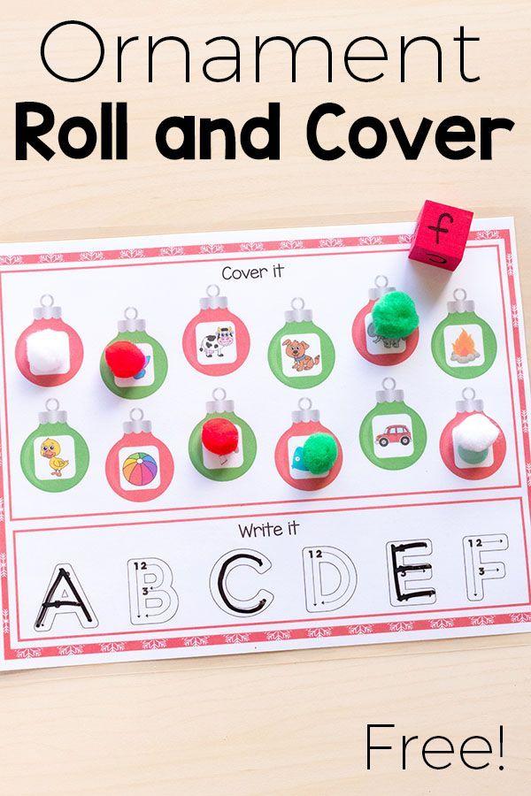 Word Work - Christmas roll and cover alphabet activity mats