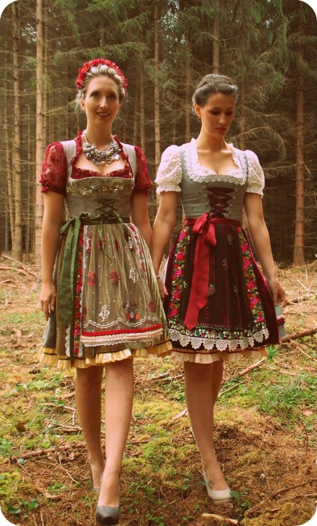 I love the apron on the right. The florals and some lace