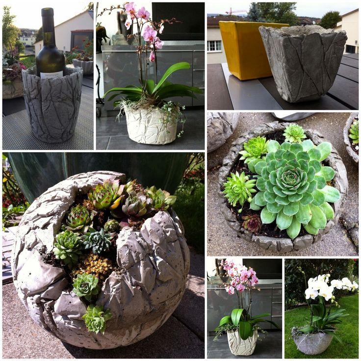 kreatives aus beton von edith und liana mit viel liebe zum detail entstehen u a betonkugeln. Black Bedroom Furniture Sets. Home Design Ideas
