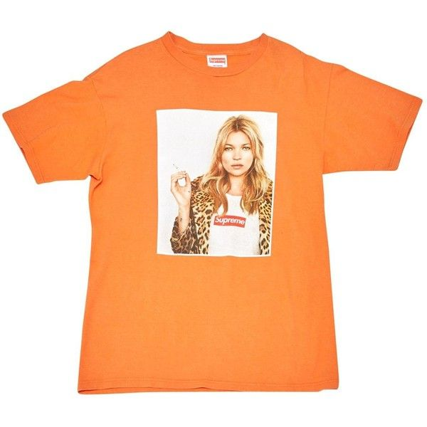 Pre-owned Supreme Orange Cotton Top ($585) ❤ liked on Polyvore featuring tops, orange, women clothing tops, red top and orange top