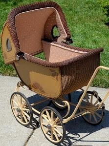 Antique Baby Buggy Carriage Wicker | eBay