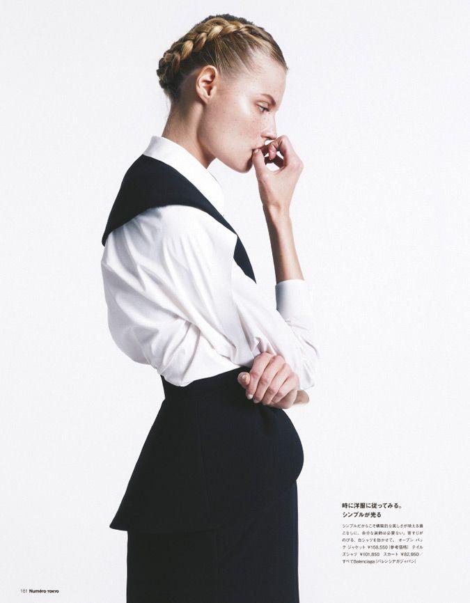 magdalena frackowiak model7 Magdalena Frackowiak Changes it Up for Numéro Tokyo by Sofia & Mauro