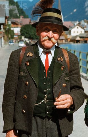 Portrait of an Elderly Man in Traditional Austrian Dress