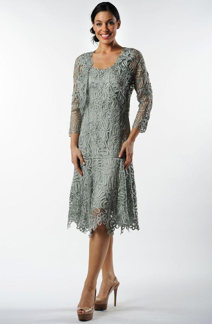 Soulmates C9126 Crochet Beaded Silk Lace Fit N Flare Tea