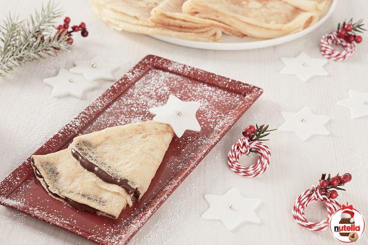 Vánoční palačinky s náplní Nutella