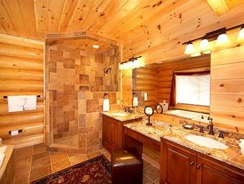 17 best images about country bathroom on pinterest log for Log cabin kitchens and baths