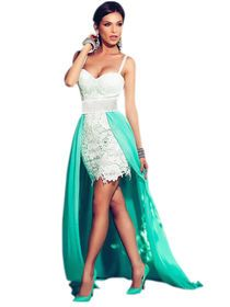 Patchwork Nice Lace Sleeveless Maxi Party Dress