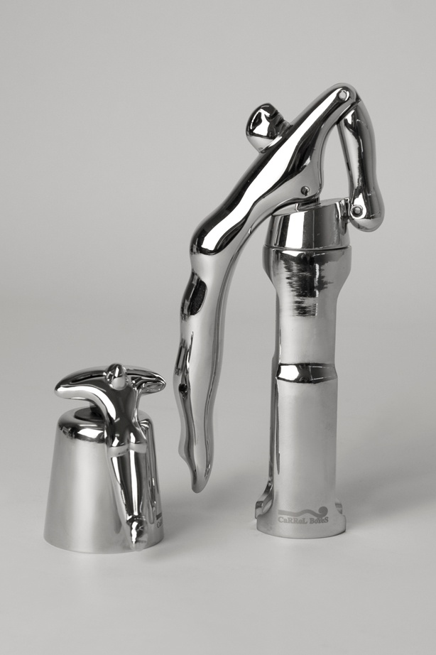 Corkscrew - Uplifted and Bottle Stopper - At Rest