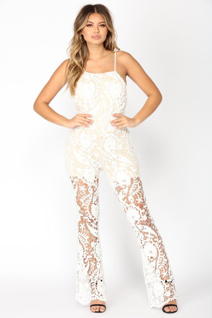c8e9670d74a Glass Of Wine Jumpsuit - White. Glass Of Wine Jumpsuit - White Lace Jumpsuit