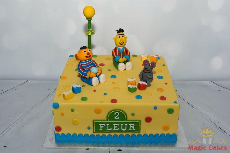 Sesamstraat taart in opdracht van Icing Smiles Holland