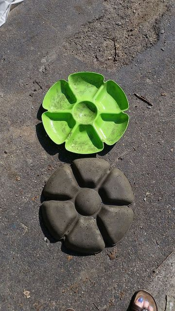 garden flower stone diy, crafts, gardening
