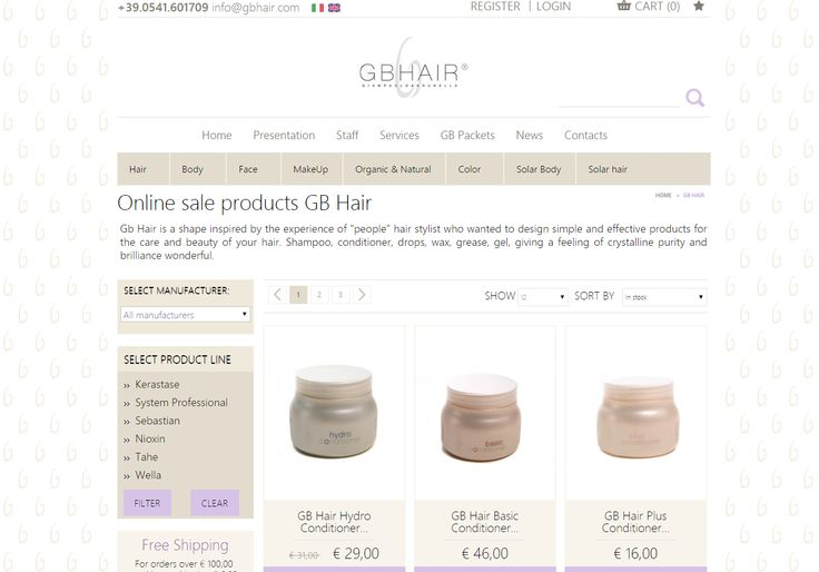 GBhair.com è online con il sito e-commerce in versione inglese ! | www.gbhair.com