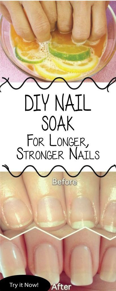 DIY nail soak for longer  stronger nails This DIY nail soak for longer stronger nails will seriously change your nails! We all love splurging on beauty products but have you ever thought about what that does to your wallet? Besides mos