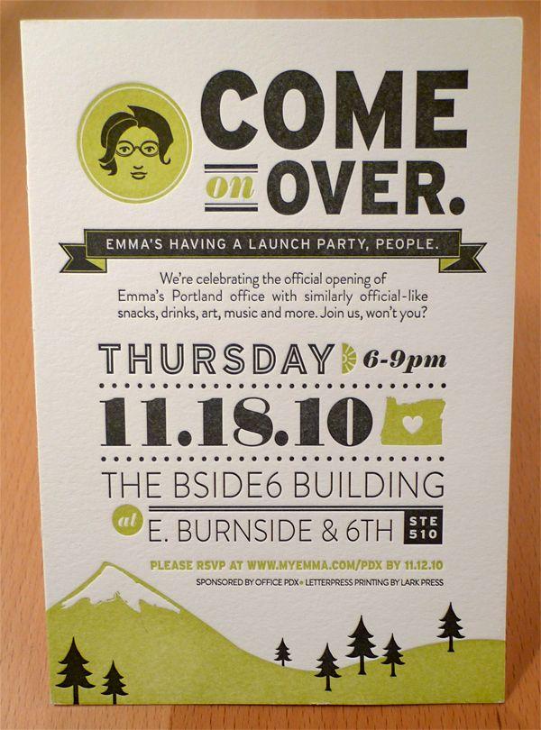 Emma, Inc Portland Open House by Allison Davis, via Behance - cute