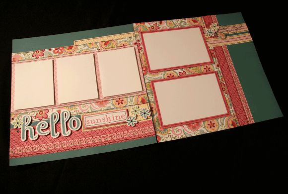 """""""Hello Spring"""" featuring the CTMH """"Chantilly"""" paper packet. layout by Michelle Snyder"""