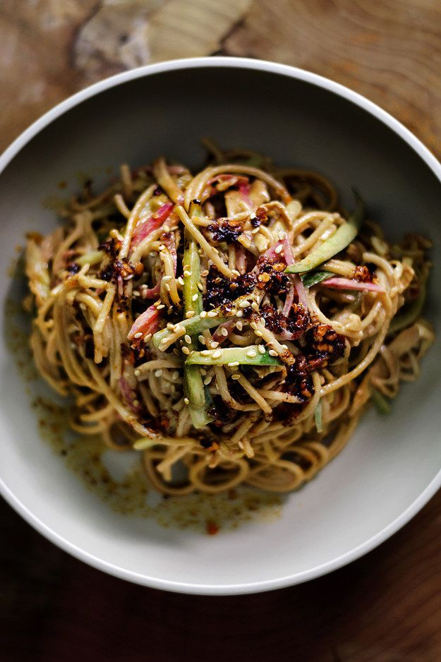 Cold Sesame Noodles! This looks #Yum