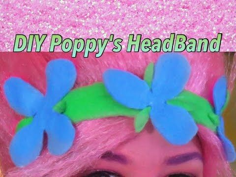 DIY Trolls (Poppy) Headband - YouTube