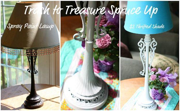 ideas about spray paint lamps on pinterest paint lamps painted lamp. Black Bedroom Furniture Sets. Home Design Ideas