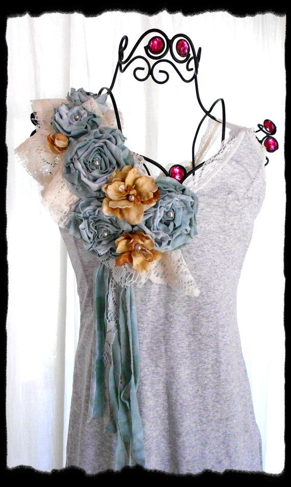 Shabby chic Womens Wholesale Shirts Tank Summer Tunic by TrueRebelClothing, $320.00
