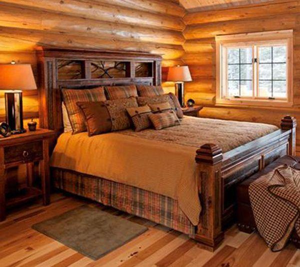 Barnwood Bed with Forged Branches Barnwood Furniture_535x600 -- Woodlandcreekfurniture.com