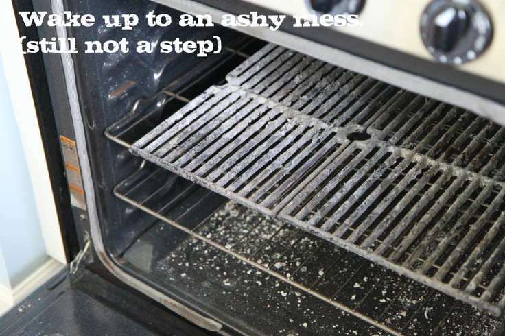 Clean grill grates in self cleaning oven.