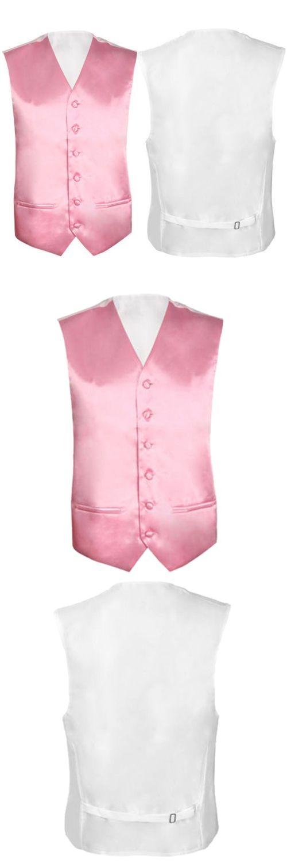 Mens Wedding Waistcoat Groom (Pink 3XL/UK 46)